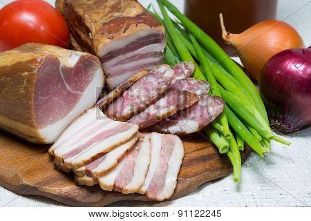 Sausage, Meat, Closeup