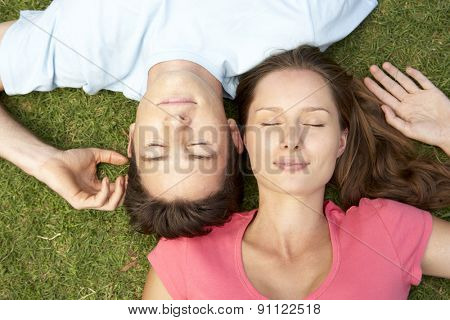 Overhead Of Couple With EyesClosed