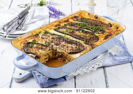 greek casserole dish - Moussaka