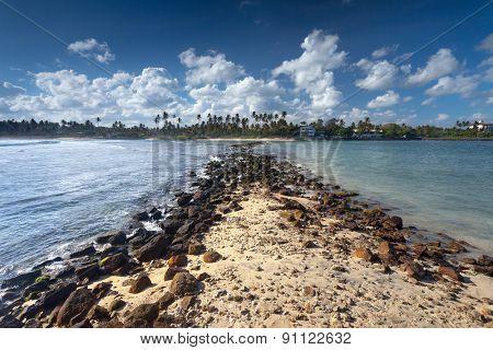 Tropical remote island in the ocean. Sri Lanka