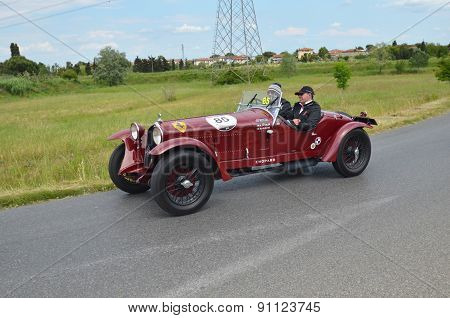 Red Car Racing The Mille Miglia Race