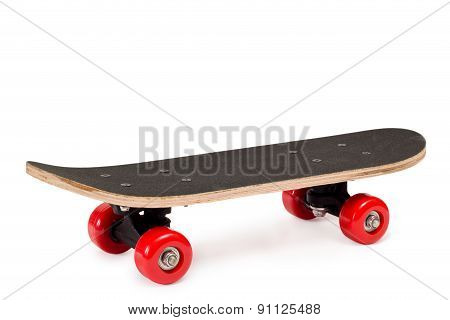 Skateboard With Red Wheels