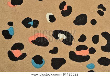 Brown Leopard Fur Pattern.