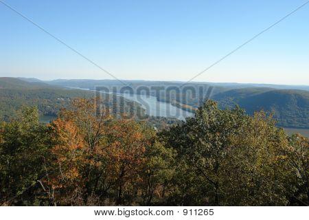 Hudson River View In Hudson Valley, Ny