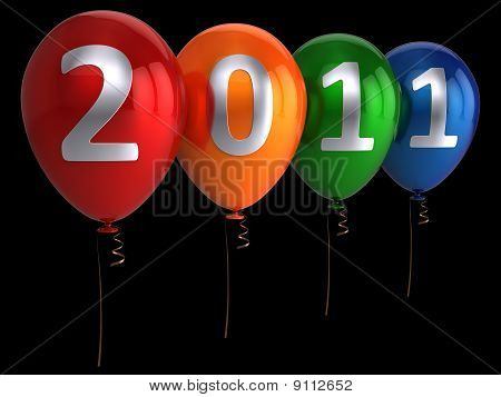 New year balloons (Hi-Res)