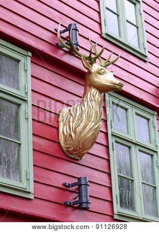Deer Head With Antlers