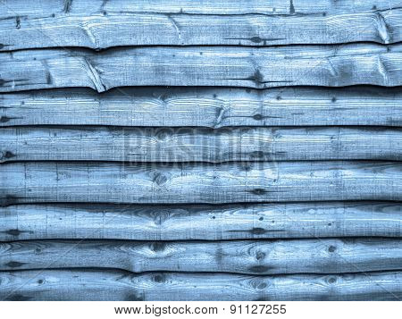 Blue Wood Fence Panel