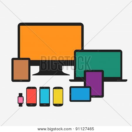 Responsive technology devices mock up