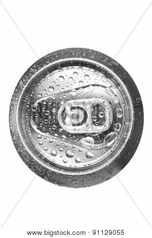 Beer Can On White Background