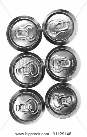 Beer Cans On White Background