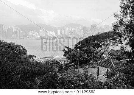 park in Hong Kong downtown.