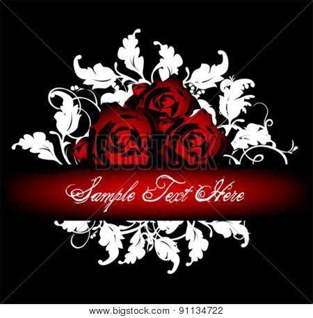 vector rose banner