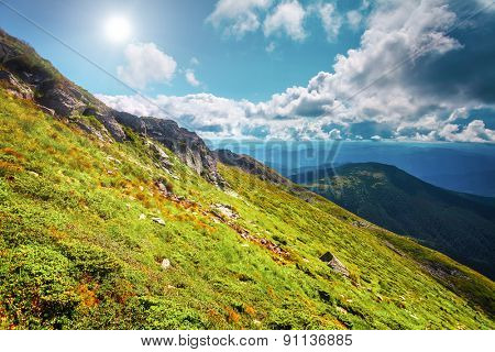 Chorna hora mountain range.  Carpathian mountains. Ukraine