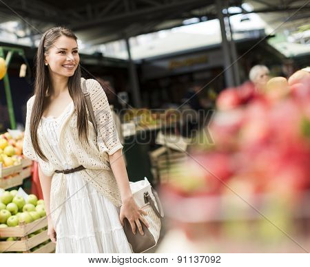 Young Woman On The Market