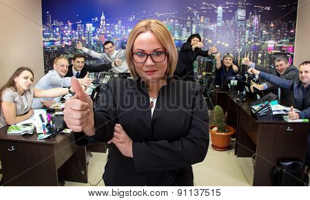 Image of business woman in glasses