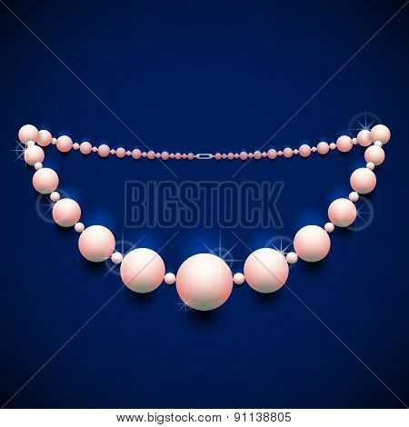 Pearl Chaplet Against Dark Background