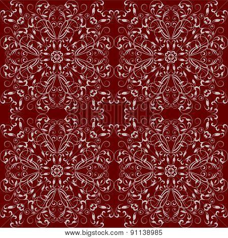 Ornamental Floral Seamless For Design In Vintage Stile.