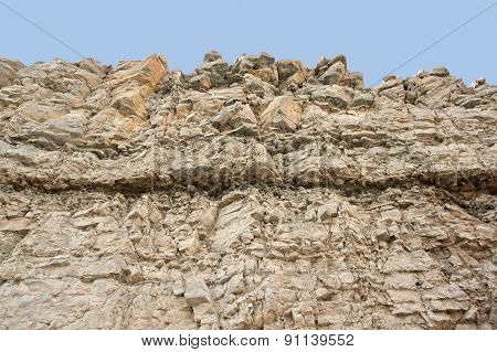 Layered Rock Face