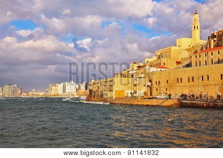 Old Jaffa at sunset. Tel Aviv, Israel