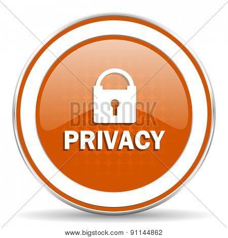 privacy orange icon