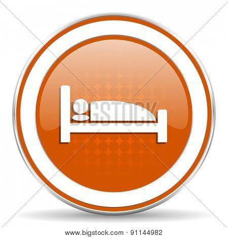 hotel orange icon bed sign