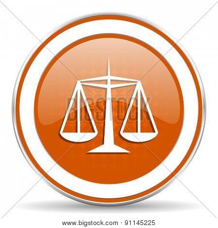 justice orange icon law sign