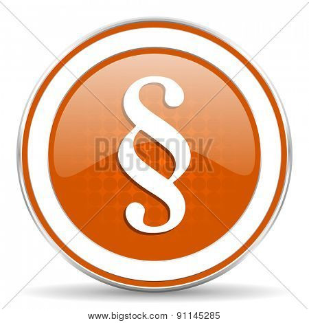 paragraph orange icon law sign