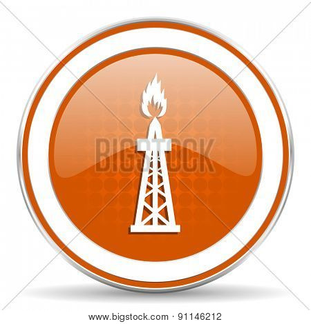 gas orange icon oil sign