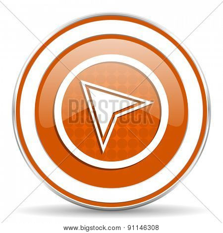 navigation orange icon