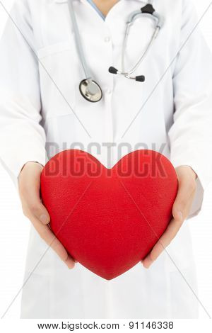 Doctor Protecting Heart