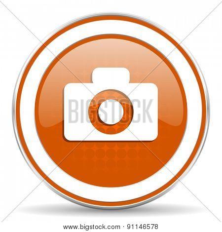 camera orange icon