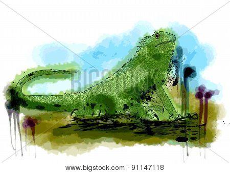 Abstract Iguana