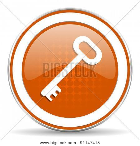 key orange icon secure symbol