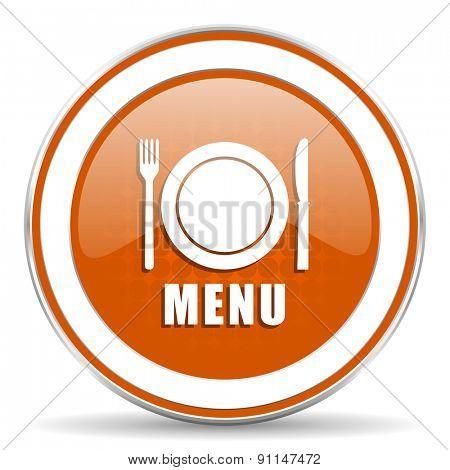 menu orange icon restaurant sign