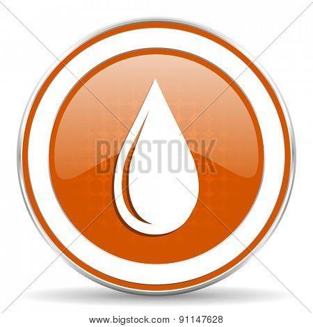 water drop orange icon