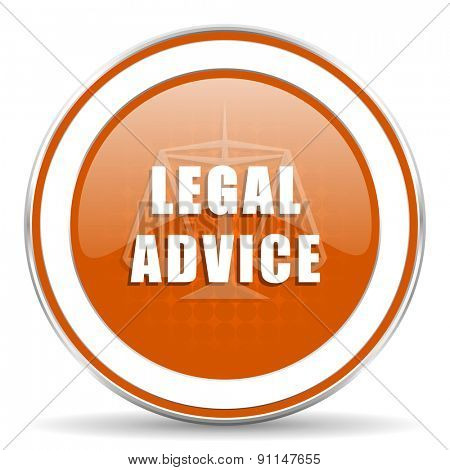 legal advice orange icon law sign