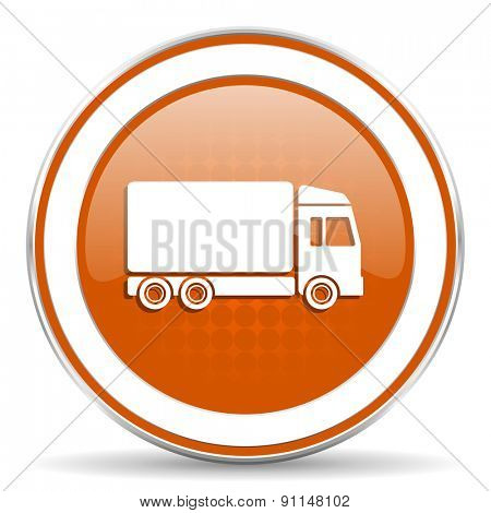 delivery orange icon truck sign