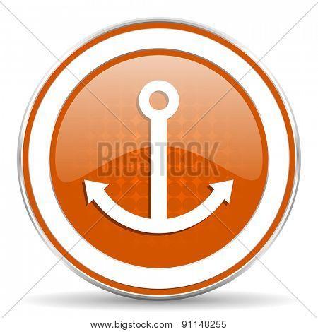 anchor orange icon sail sign