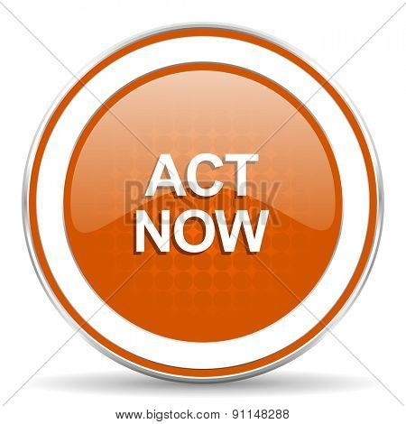 act now orange icon