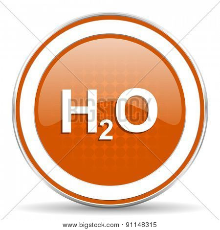 water orange icon h2o sign