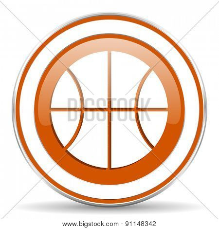 ball orange icon basketball sign