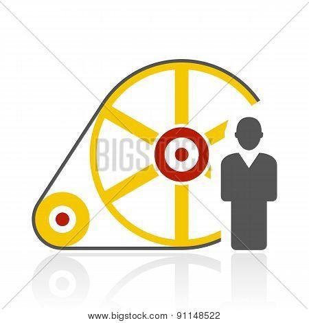 Color Flywheel Icon
