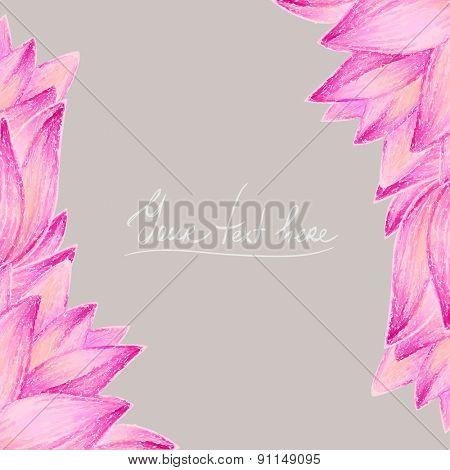Beautiful flower greeting card design. Vector illustration.