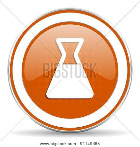 laboratory orange icon