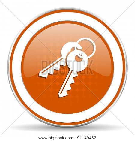 keys orange icon
