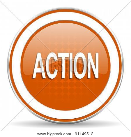 action orange icon