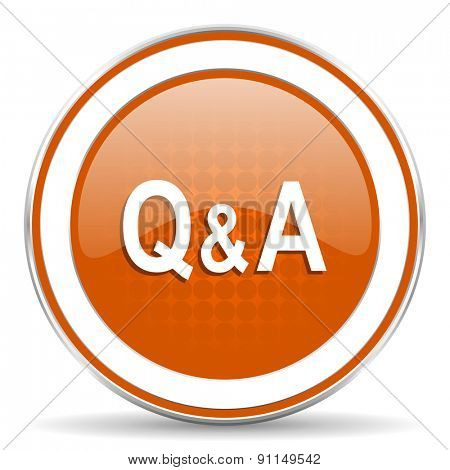 question answer orange icon