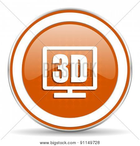 3d display orange icon