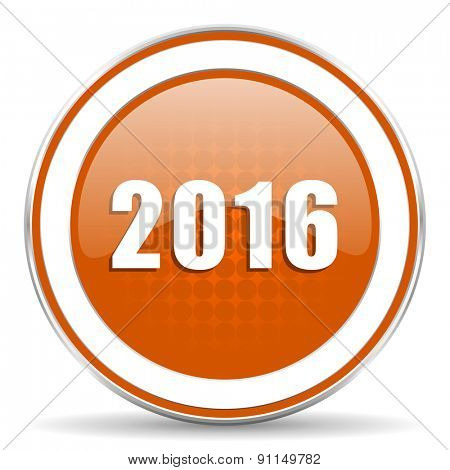 new year 2016 orange icon new years symbol