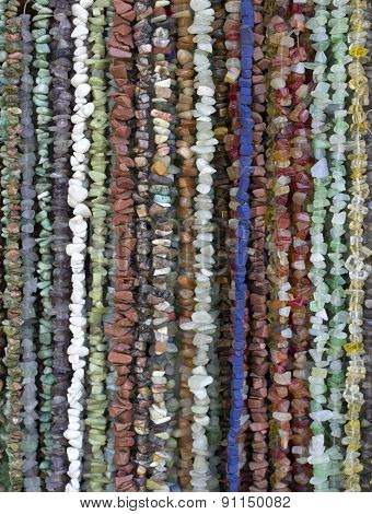 Many Necklaces Of Semiprecious Stones